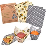 Reusable Beeswax Food Wraps Assorted 6 Pack by Eco Hive, Eco Friendly Food Wraps, Biodegradable, Sustainable Plastic…