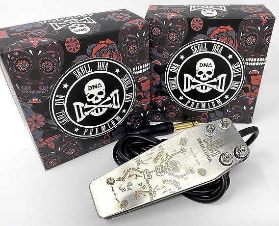 Inkgrafix Skull Adn Crazy Esqueleto Interruptor Pie con Grabado ...