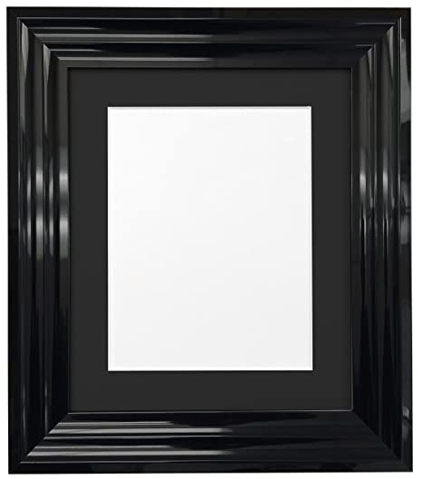 Frames By Post Firenza High Gloss Black Picture Photo Frame with ...
