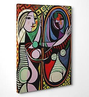 40x64 Stampa in Tela Canvas 100/% QUALIT/à ITALIA Les demoiselles dAvignon effetto Dipinto Idea Regalo Casa quadro cucina stanza da letto soggiorno Picasso