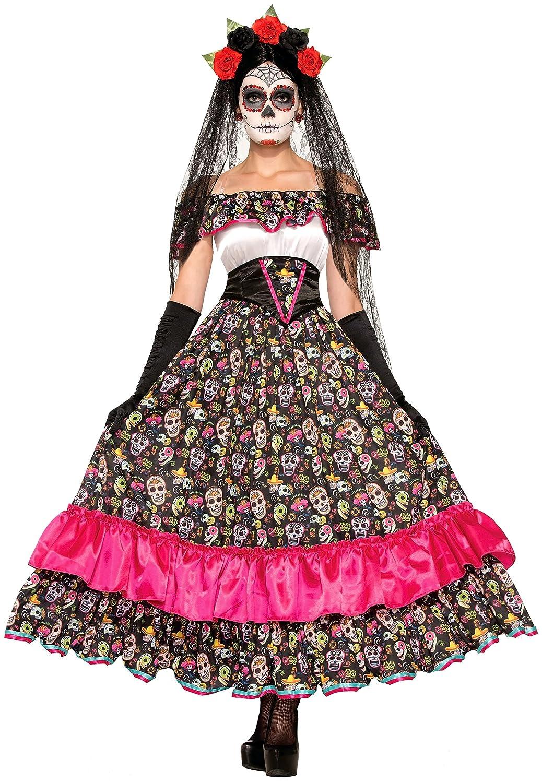 Forum Novelties Women's Day of Dead Spanish Lady Costume Multi Standard Forum Novelties Costumes 74798