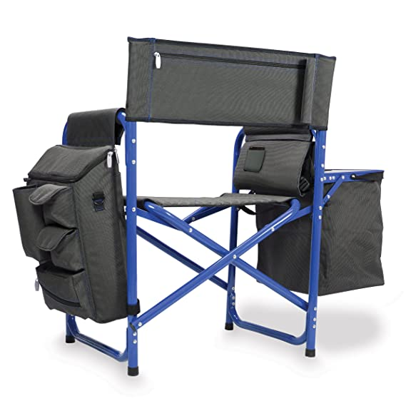 Amazon.com : Picnic Time Fusion Original Design Outdoor Folding Chair, Gray  With Blue Frame : Camping Chairs : Garden U0026 Outdoor