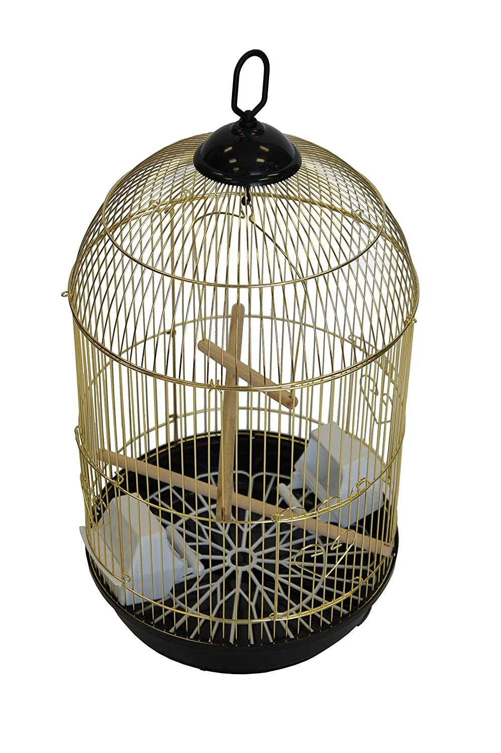 YML A1584 Bar Spacing Round Bird Cage, Medium, White A1584WHT