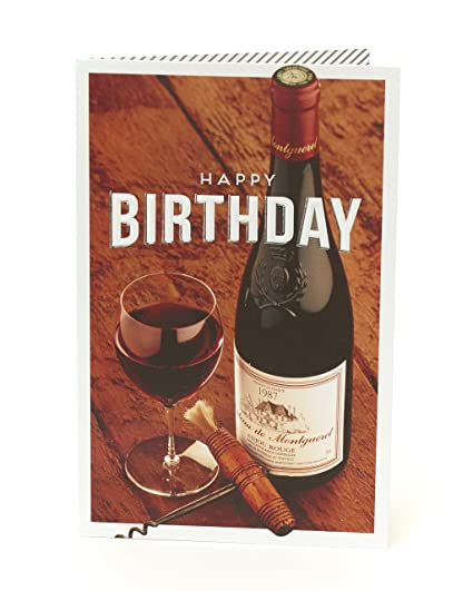 Vin Carte D Anniversaire Joyeux Anniversaire Amazon Fr