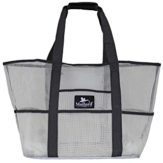 Beach Bag - Toy Tote Bag, Mesh Beach Bag, Large Lightweight Grocery, Market & Picnic Tote with Oversized Pockets - by Mallard Bags