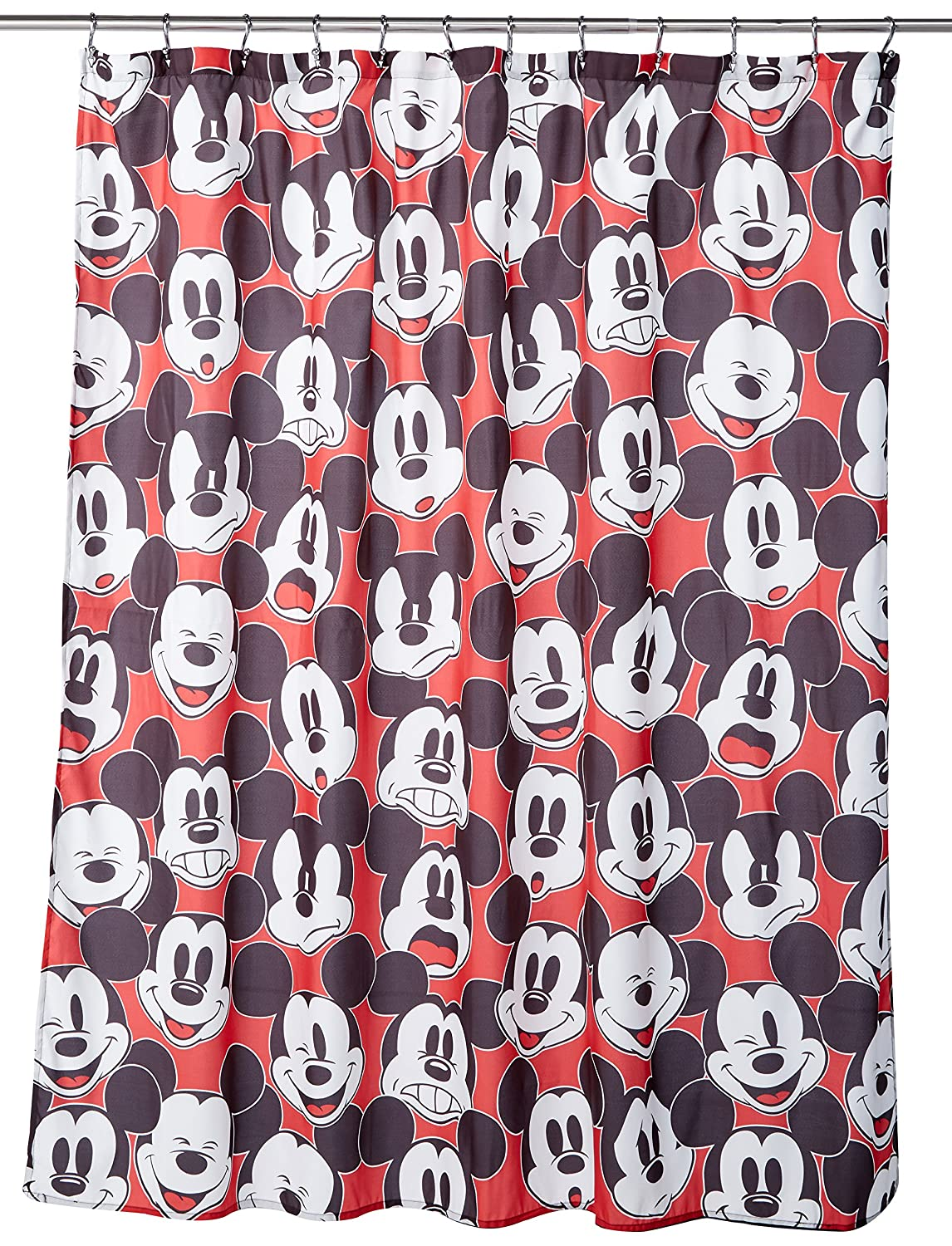 Amazon Disney Mickey Mouse Big Face Shower Curtain Home Kitchen
