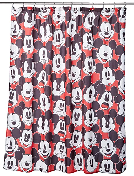 Jay Franco Disney Mickey Mouse Big Face Shower Curtain