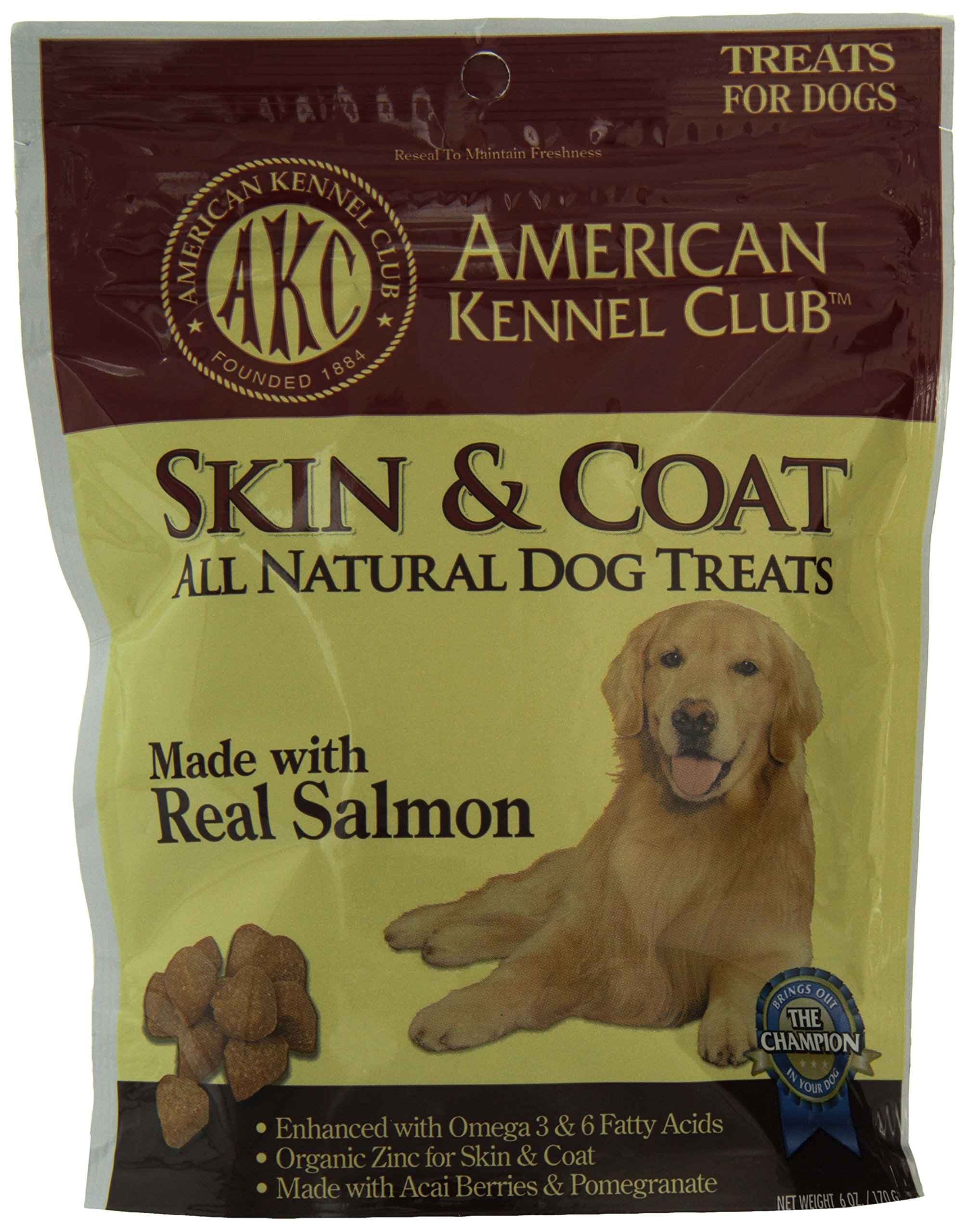 Pet Brands American Kennel Club Salmon All Natural Treats for Skin and Coat, 6 ounce by Pet Brands (Image #1)