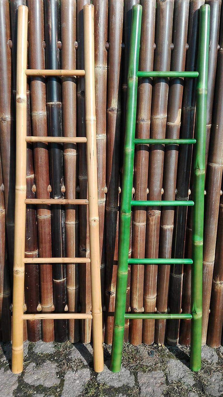 Bambusleiter Leiter Handtuchhalter Bambus 180 cm x 48 34 cm natur