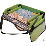 Kids Travel Tray with EXCLUSIVE Storage Containers on the Surface by TRAVEL IN SANITY.  The Ideal Activity, Car Seat, Stroller, Play or Snack Tray for Toddlers. Padded Firm Surface, Sturdy Side Walls.