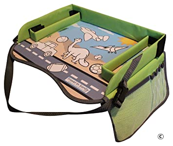 Amazon.com : Kids Travel Tray with EXCLUSIVE Storage Containers on ...