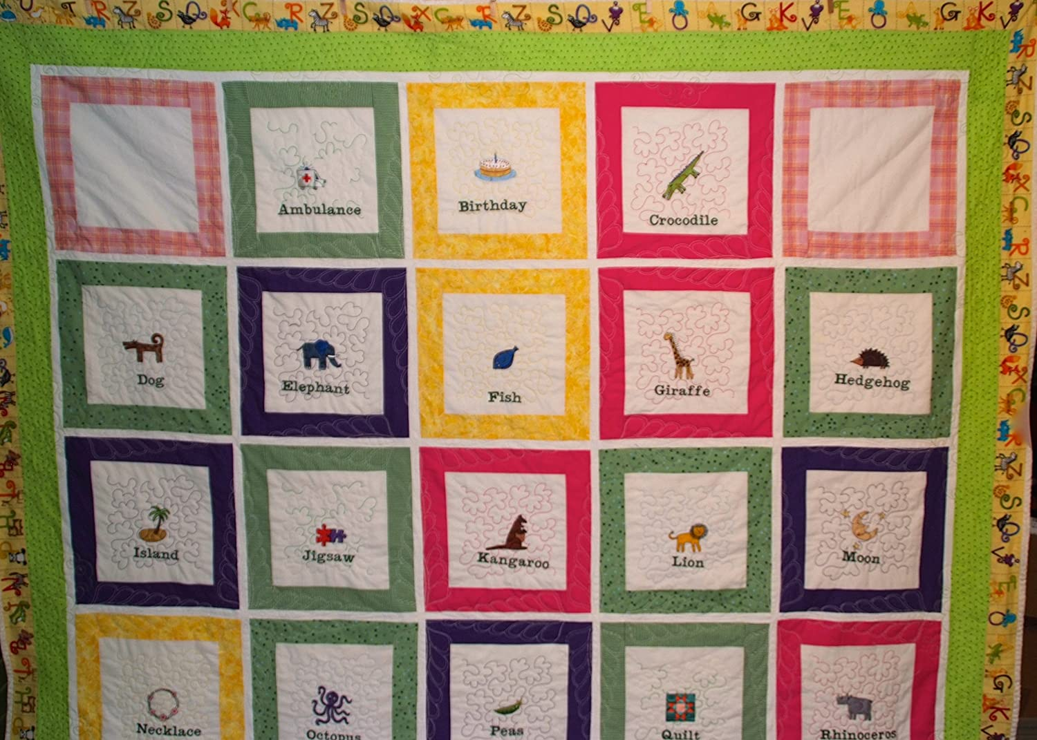 Image of A-B-C Quilt, Childs Quilt Home and Kitchen