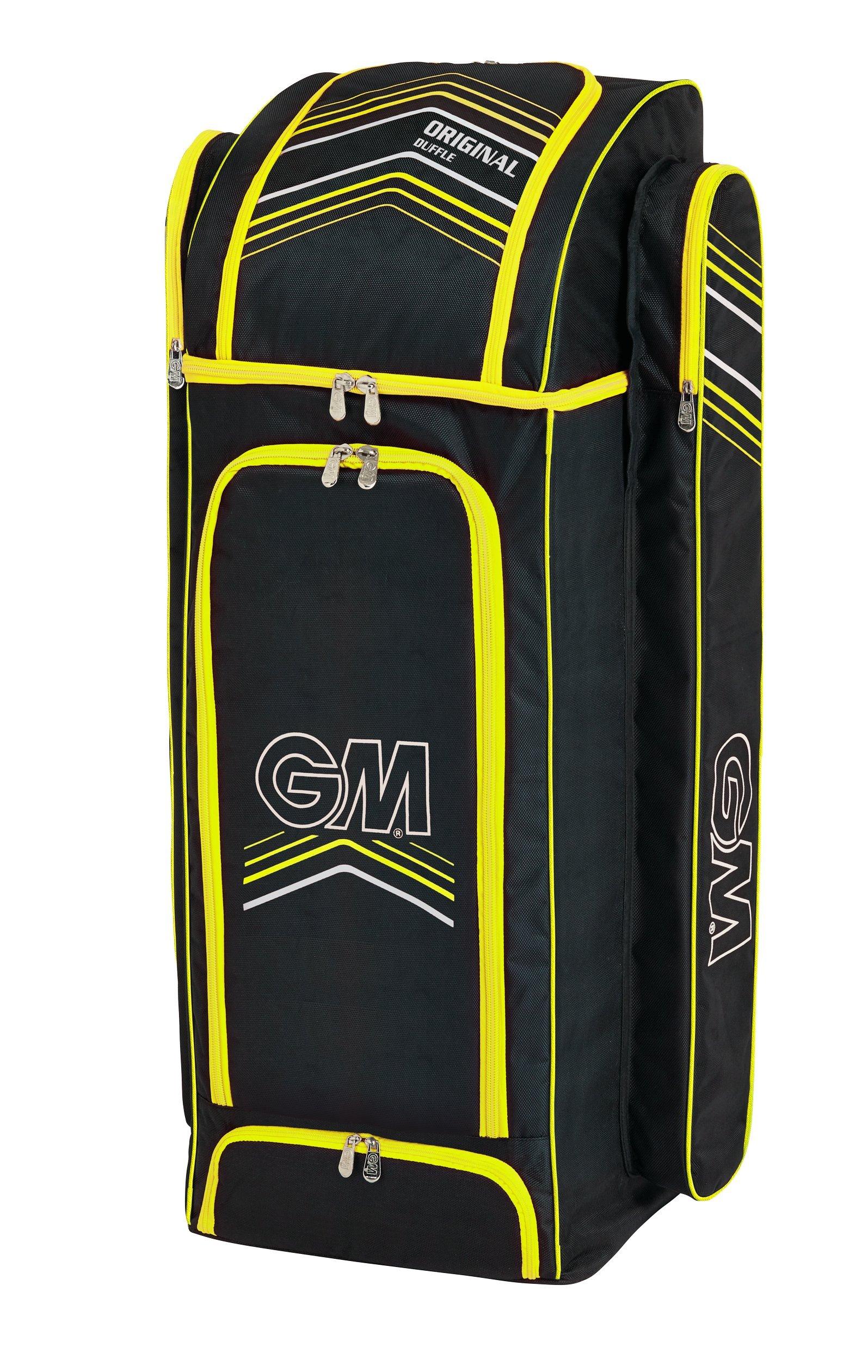 Gunn & Moore Original GM Original Duffle Cricket Bag, Black - Yellow