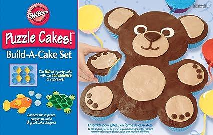 Amazon Animal Puzzle Cakes Build A Cake Set Novelty Pans