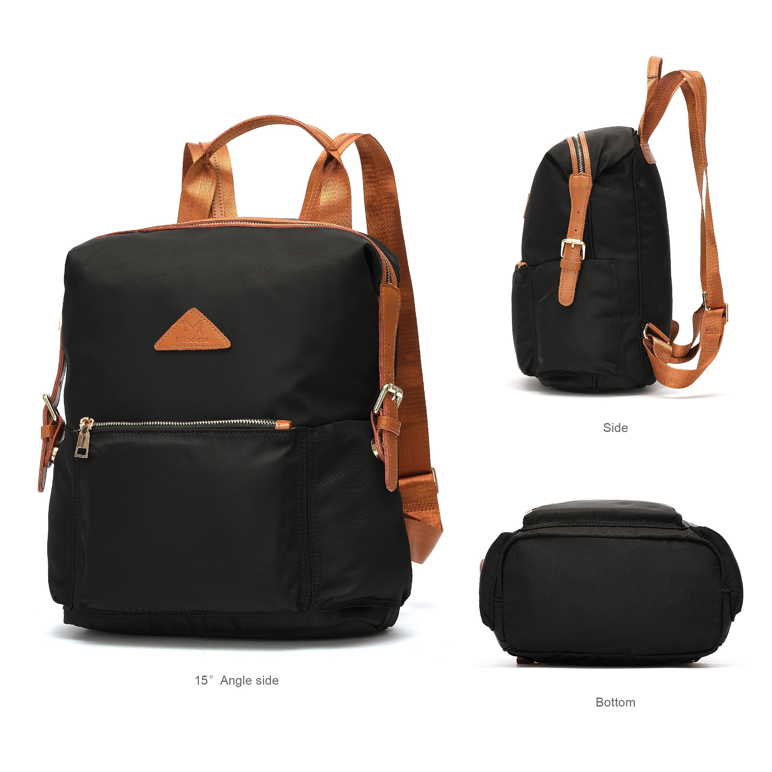 Ali Victory Women's Anti-Theft Water Resistant Nylon Backpacks (Black) by Ali Victory (Image #2)