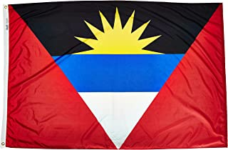 product image for Annin Flagmakers Model 190351 Antigua & Barbuda Flag Nylon SolarGuard NYL-Glo, 4x6 ft, 100% Made in USA to Official United Nations Design Specifications