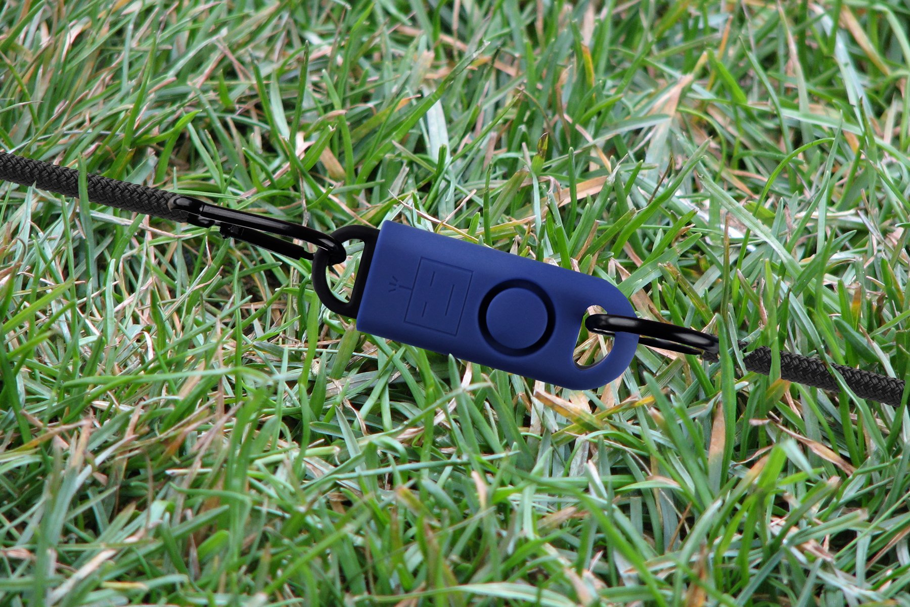 B A S U eAlarm+ with Tripwire Hook, Emergency Personal Alarm, Battery Included, Carabiner Included, Navy Blue by B A S U (Image #6)