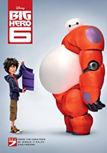 WMG Big Hero 6(2014) Movie Poster 24 x 36 Inches, Glossy Finish (Thick): Baymax, Hiro, Fred