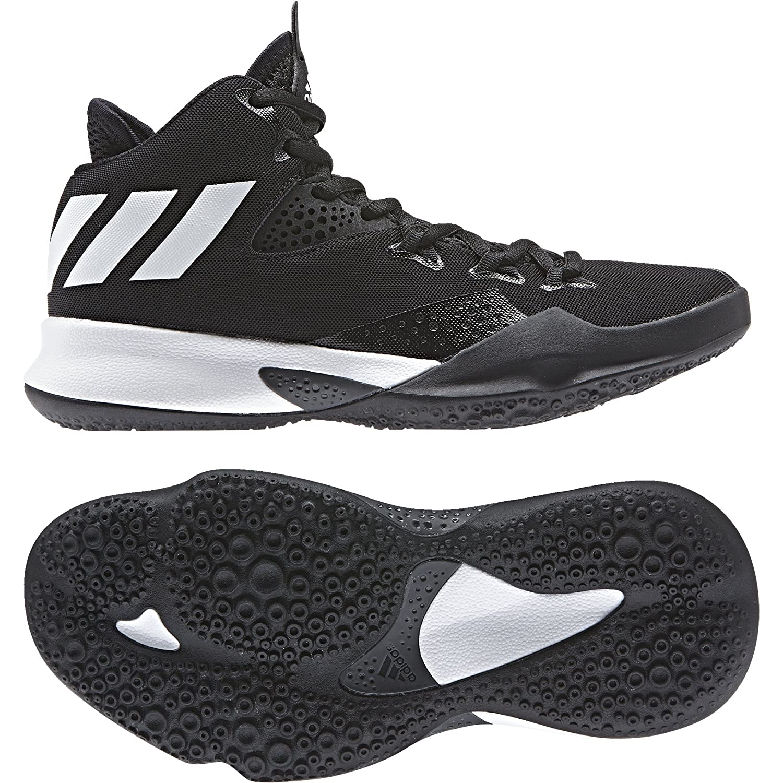 Adidas Dual Threat 2017 J, Zapatillas de Baloncesto Unisex Adulto, Negro (Negbas/Ftwbla/Gricua 000), 39 1/3 EU 39 1/3 EU|Negro (Negbas/Ftwbla/Gricua 000)