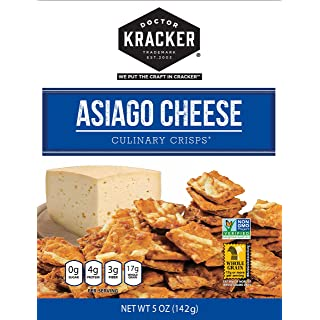 Doctor Kracker Culinary Crisps, Asiago Cheese, 5 Ounce (Pack of 6)