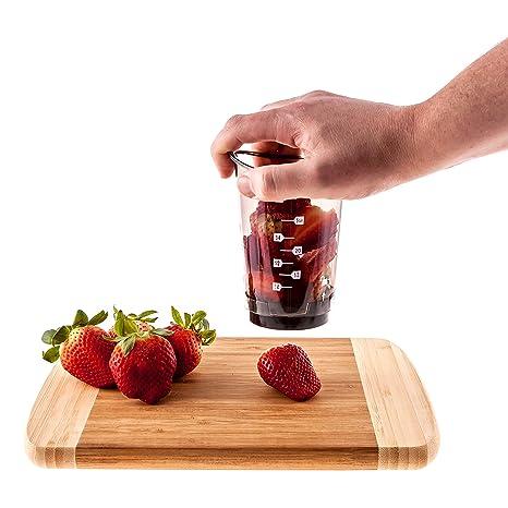 Amazon.com: chop2cup cortador de fresas – Copa de frutas y ...
