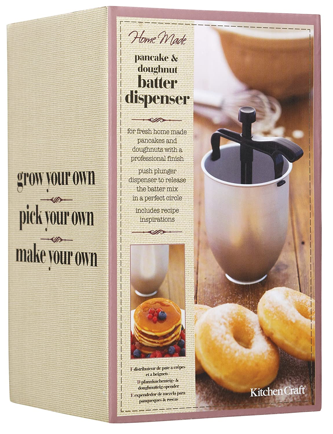 Compra Home Made Dispensador para Hacer Rosquillas Manual, Acero, Blanco, 11.2x11.2x18.8 cm en Amazon.es