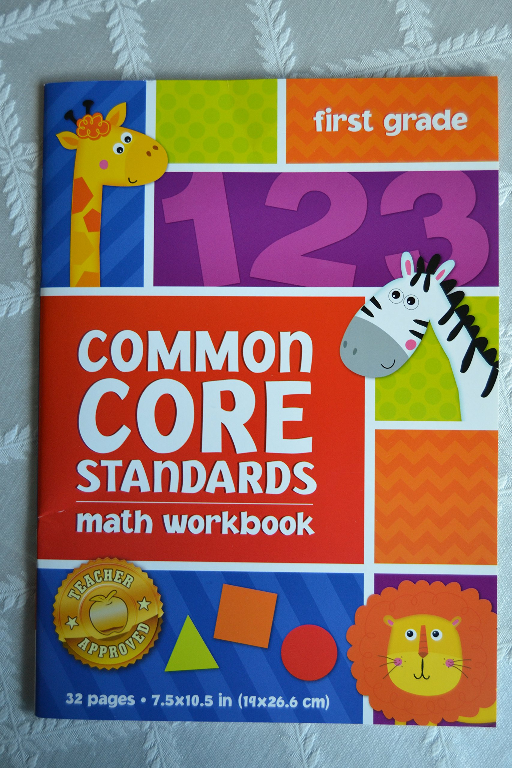 Worksheet First Grade Math Books amazon com common core standards first grade math workbook the clever factory books