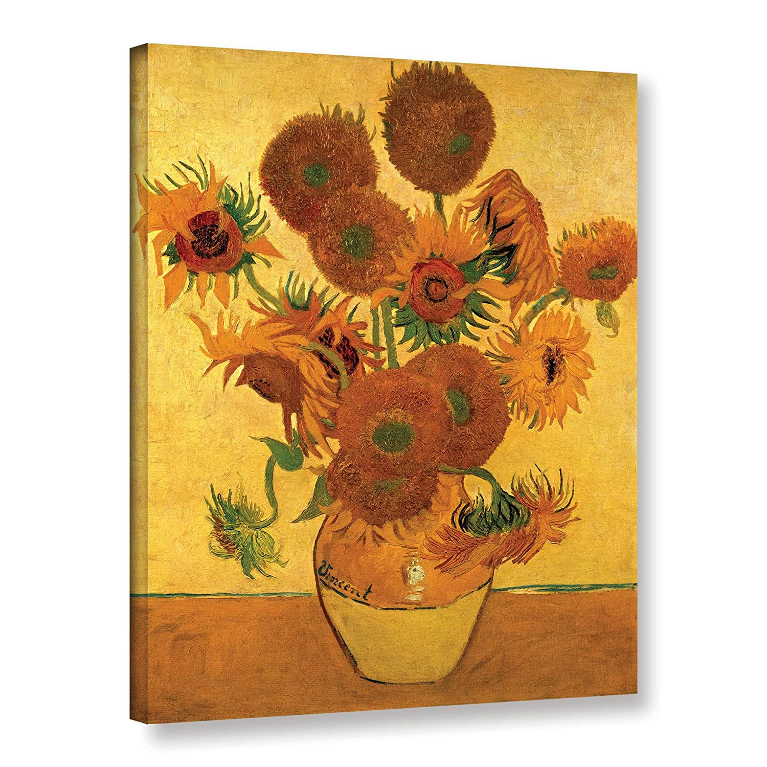 Amazon art walls vase with fifteen sunflowers gallery wrapped amazon art walls vase with fifteen sunflowers gallery wrapped canvas by vincent van gogh 18 by 24 inch oil paintings paintings reviewsmspy
