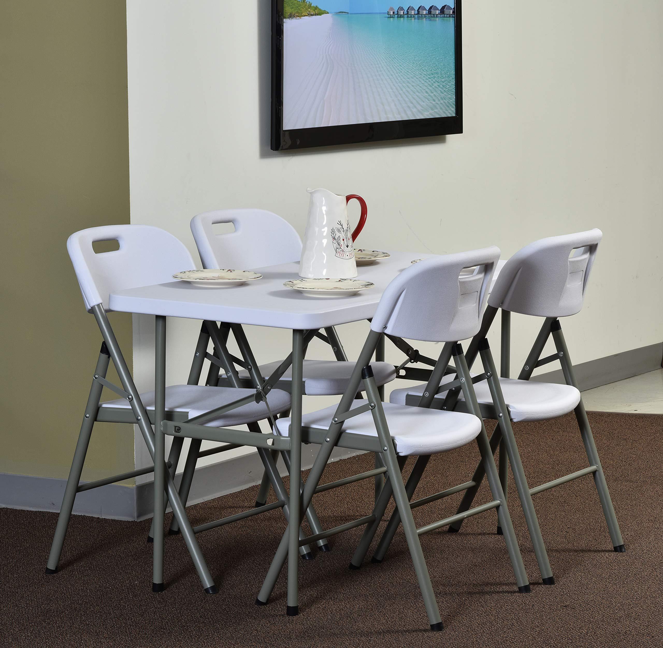 Sandusky Lee PT4824-WV2 Commercial Folding Utility Table, 4', White, 29'' Height, 48'' Width, 24'' Length by Sandusky