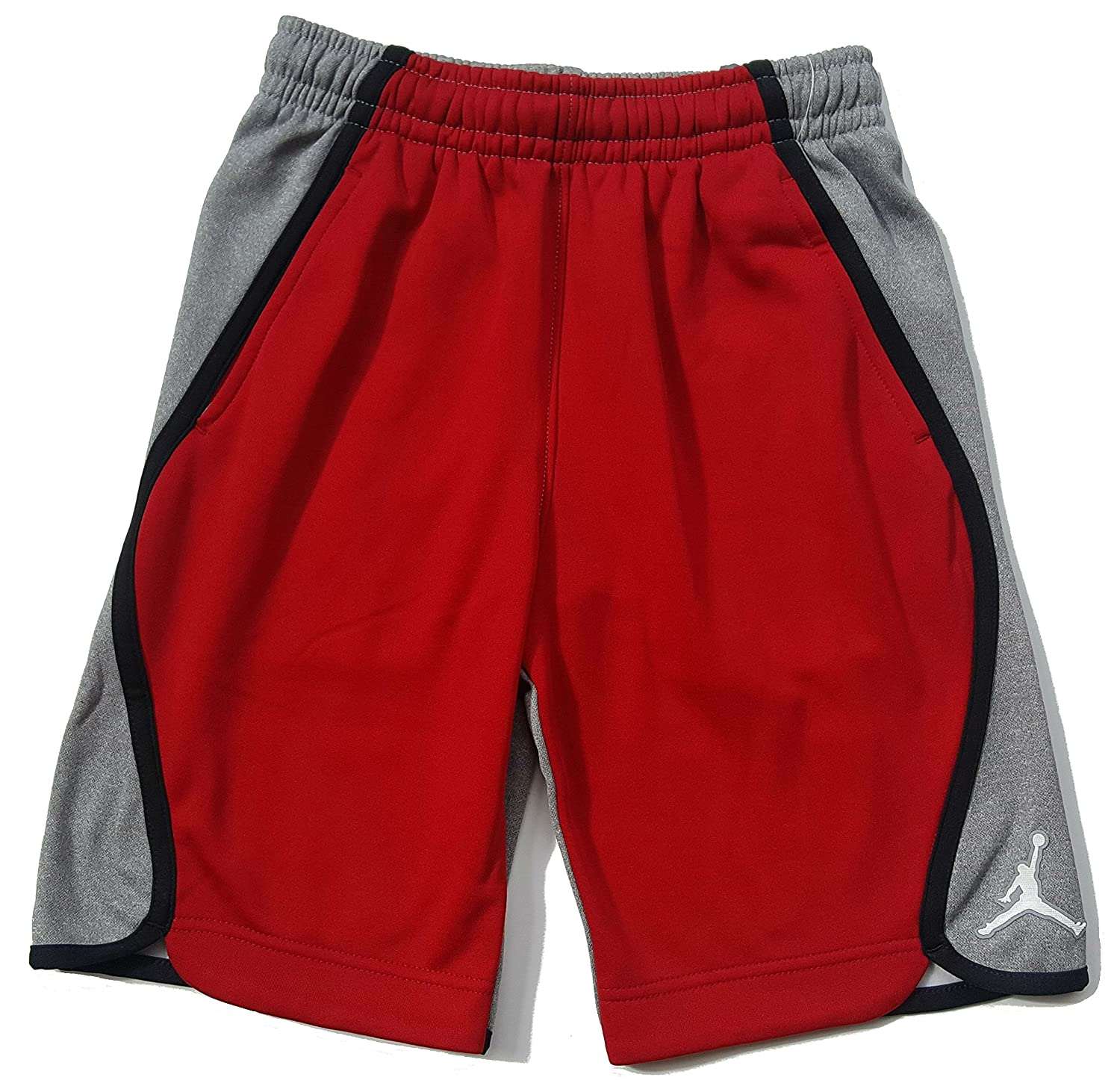 Gym Red//Grey//Black Small Nike Boys Air Jordan Signature Therma Fleece Shorts 953648-R78