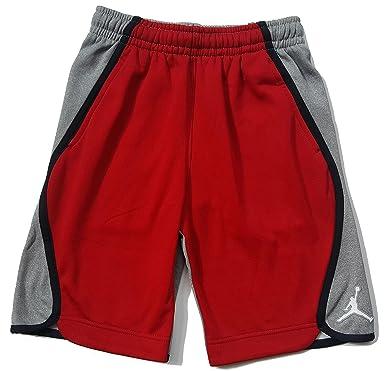 e09f8b3d7db Nike Boy's Air Jordan Signature Therma Fleece Shorts 953648-R78 (Large) Gym  Red