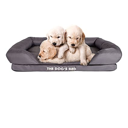 e91ceaf2b784 The Dog's Bed, Orthopedic Premium Memory Foam Waterproof Dog Bed, 3 Sizes 3  Colors