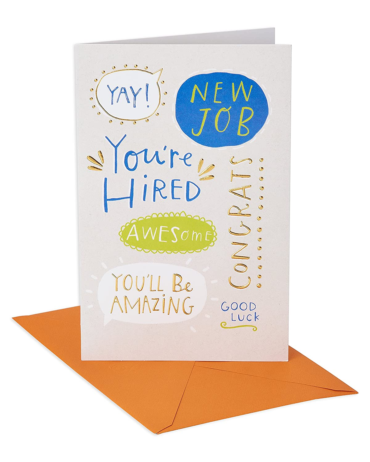 Amazon American Greetings Youre Hired New Job Congratulations
