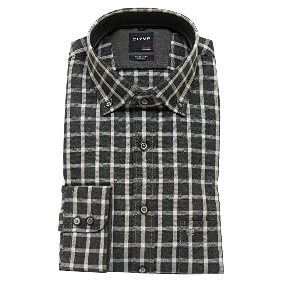official site best sale best sale OLYMP Casual Grey Shirt 4060 24 69: Amazon.co.uk: Clothing
