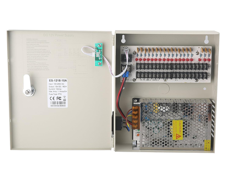 Power Box 18CH 24V AC 10Amps Power Distribution Box  CCTV Security Camera One