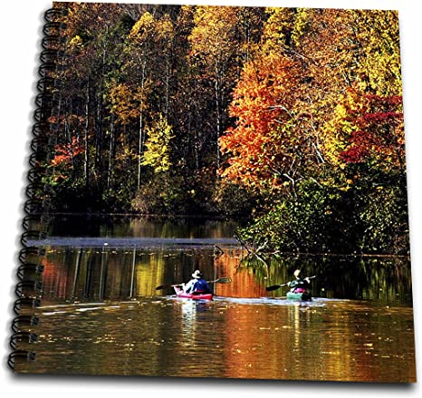 Amazon Com 3drose Db 61695 1 Canoeing On Lake Logan In Autumn At Hocking Hills State Park Drawing Book 8 By 8 Inch Arts Crafts Sewing