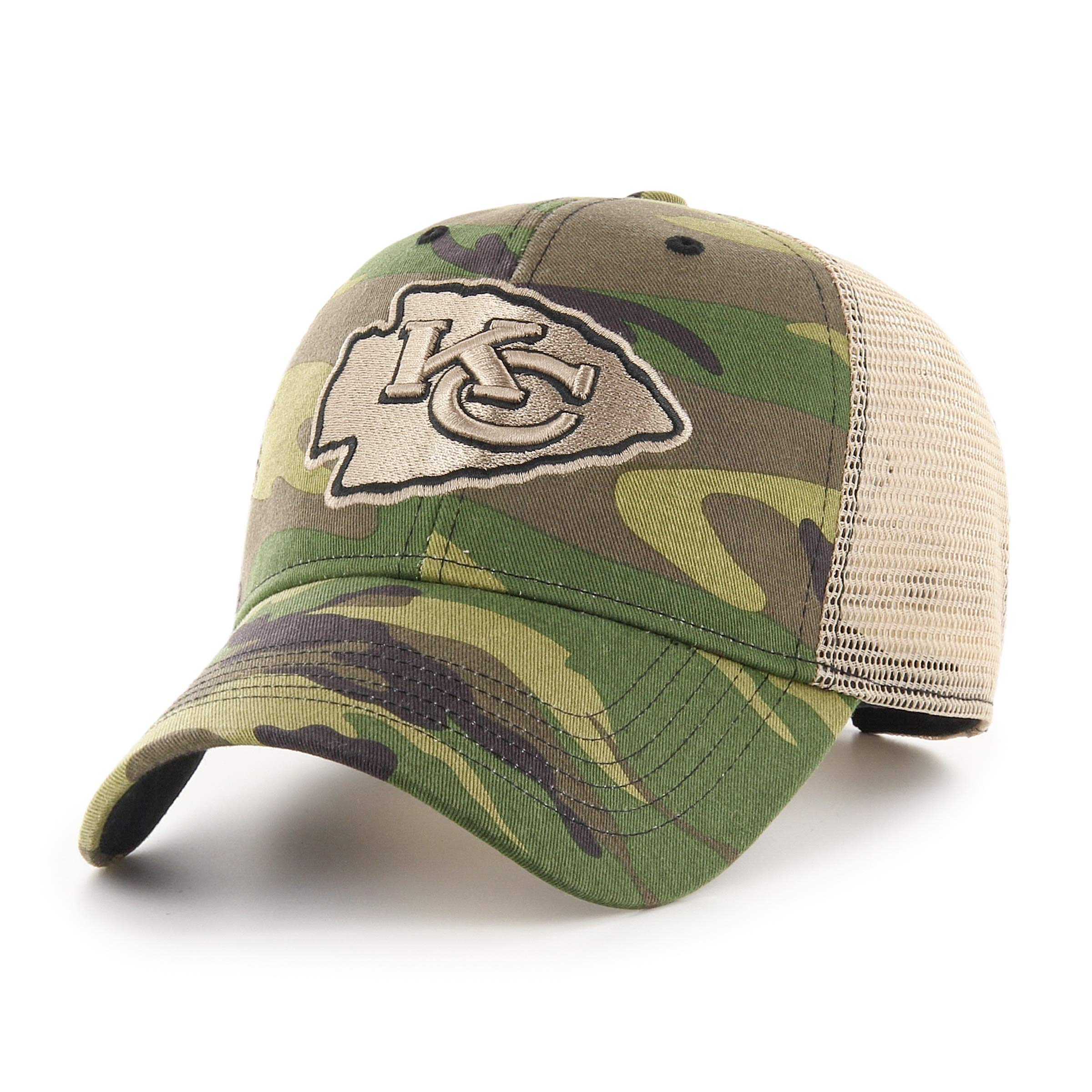 new style 43211 65656 OTS NFL Kansas City Chiefs Male Nameplate All-Star Adjustable Hat, Camo,  One Size