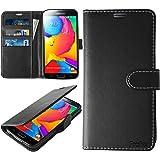 Samsung Galaxy S5 Hülle, Profer [Premium Leder Serie] Schutzhülle PU Leder Flip Tasche Case mit Integrierten Kartensteckplätzen und Ständer für Samsung Galaxy S5 (Leder-Schwarz)