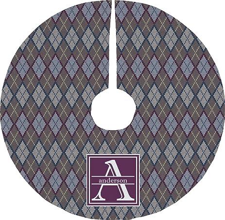 Amazon Knit Argyle Christmas Tree Skirt Personalized Home