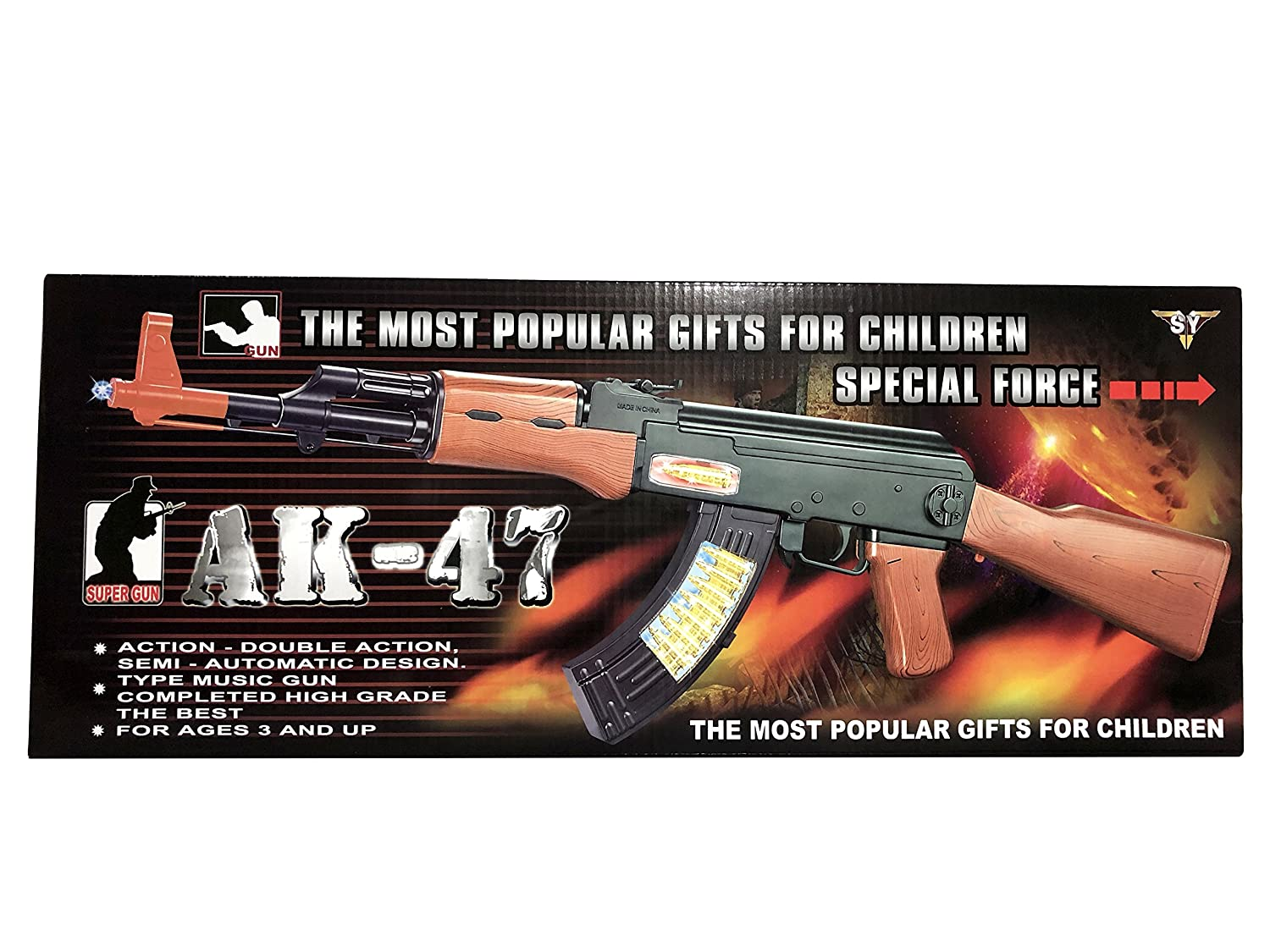 SY The Most Popular Gifts Children Special Force AK-47 Toy Gun