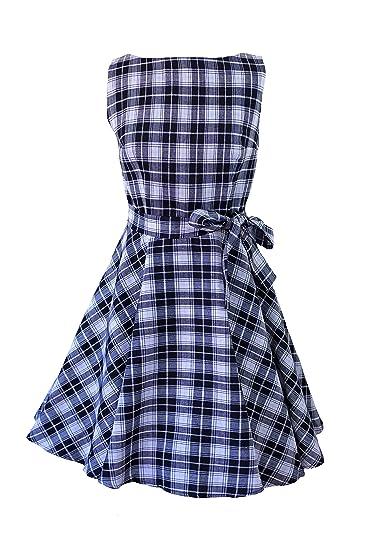 c5622bbc02 Milk Moon Vintage Women s Skater Casual Dress Uk 6 Black And White