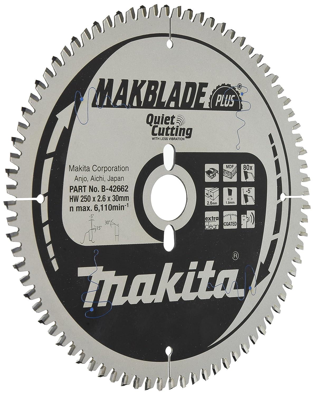 Makita b-42662 250 x 30 x Reduzierringe TCT Sä geblatt –  Mehrfarbig