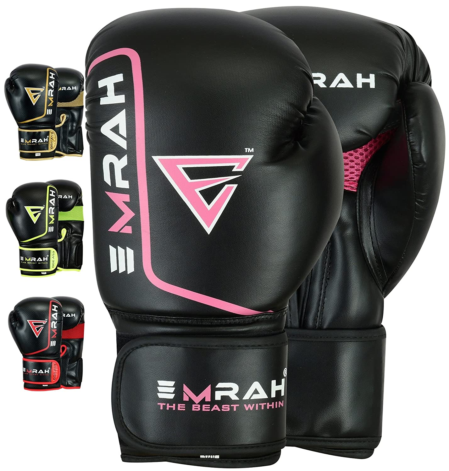 EMRAH ESV-300 Boxing Gloves Muay Thai Training DX Hide Leather Sparring Punching Bag Mitts kickboxing Fighting