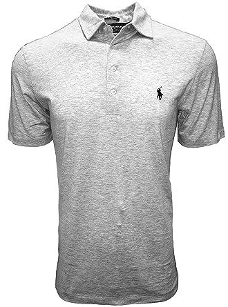 18f5100d3 Ralph Lauren Polo Golf Short Sleeve Polo Shirt (Heather Grey, Small ...