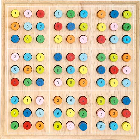 # Legler 2489 Sudoku bunt Holz 25 x 25 cm Buchenholz NEU