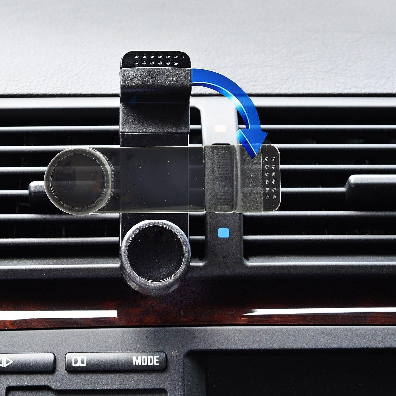 Micro-USB Ladekabel Set f/ür Samsung Galaxy A3 A5 A6 A7 A8 Schwarz mobilefox/® KFZ Auto Handy Halterung L/üftungshalterung 360/° verstellbar inkl