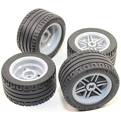 LEGO 8pc Technic Wheel and Tire SET (Mindstorms nxt ev3 tyre) 56145 44309: Toys & Games