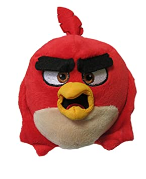 Angry Birds Peluche Felpa Pájaro Birds Red Rojo con Boca Abierta Opened Mouth 12cm Original y