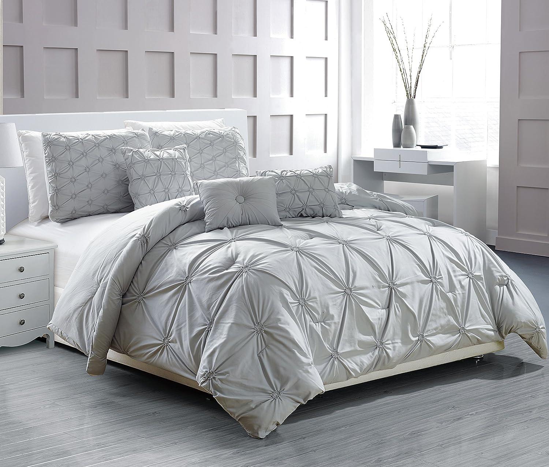 RT Designers Collection Cosmo 6-Piece Comforter Set CMCQ00413 Queen Burgundy Ramallah Trading Company Inc