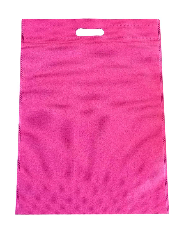 100sacchetti Merchandise sacchetti in tessuto non tessuto borse della spesa ecologica 35cm x 48cm–colore rosa earth impex